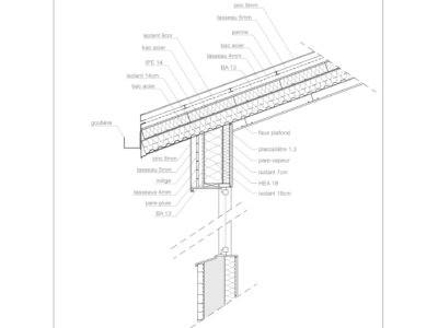 detail technique toiture mur