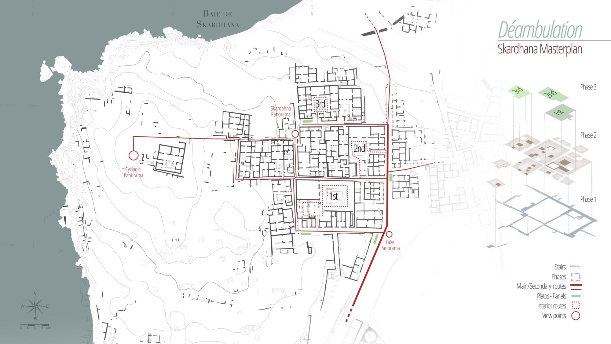 Aménagement de site archéologique – Quartier d'habitation de Skardhana à Délos